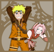 Naruto: Steampunk Contest by darthfilart