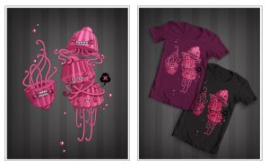 Jello-fishes T-shirt design by windmile