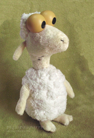 Sheep in the Big City -Handmade plush by Piquipauparro