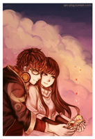 Mystic Messenger: 707 x MC (+Speedpaint) by Qin-Ying