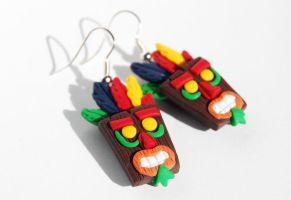 Crash Bandicoot Earrings by LaBotteghilla