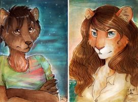 ACEO for Suane and Avinna by GlykoNat