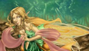 Fairy and child - web illust by nefgoddess