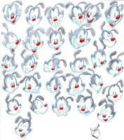 Yakko head drawings by Orbcreation