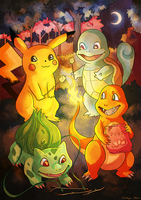 Pokemon Campfire! by Kaywinnit