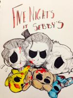 Five Night's at Sebby's by huey4ever