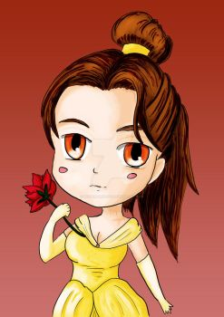 10 minutes challenge - Princess Belle chibi v by MisterPandoso
