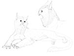Owl Gryphon Free lineart by AFrozenHeart