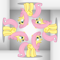 Fluttershy - Scared... of... my... REFLECTION!!! by AdrianImpalaMata