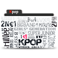 Kpop Folder Icon Colorflow by moviesfreak89