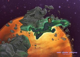 Jon Stewart Green Lantern by cheeks-74