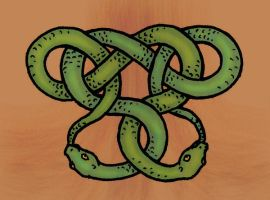 Snakes entwined tattoo by BlueWingedCoyote