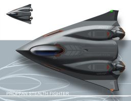 Propfan Stealth Fighter by Shantonian
