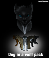 Dog in a Wolf Pack - Poster by Sprouteeh