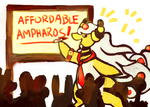 MPL Affordable Ampharos by bubblymaika
