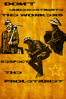 Respect the Workers Poster by renjikuchiki1