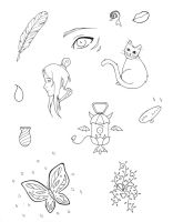 Doodles 1 - BW by Skuldier