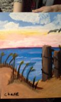 Beach Painting by Sonomatic