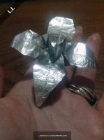Playing with Aluminum foil - flower by DarkUmah