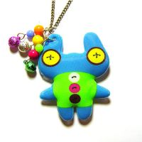 Rainbow Monster..necklace by ColourLab