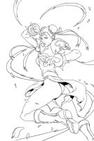 Chun li : Blazing fury by firewind1