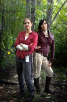 Uncharted Cosplay Chloe Frazer and Elena Fisher by LadyofRohan87