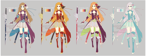 36 hour adopt: Fantasy Sword Girl Auction [ClOSED] by Kaiapi
