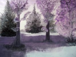 Purple Trees by The-Happy-Apple