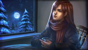 winter evening by Paradiss2009