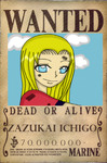 One Piece Oc Ichigo Wanted poster by TheBlackberryKey