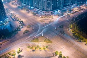 Intersection at Night by kulesh
