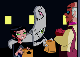 ben 10 Trick or Treating by toongrowner
