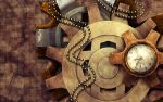 Steampunk Wallpaper by cosmosue