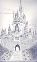 disney castle by cattoo444