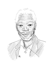 Morgan Freeman by Alisha-town