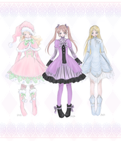 Lolita Collection Pastels by Flurryfox