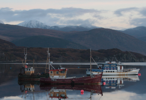 Boats in Ullapool by SharpePhocus