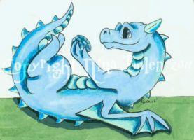 Birthstone Dragon March ACEO by The-GoblinQueen