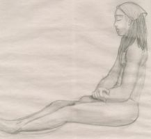 Life Drawing - Chris 2 by mewgal