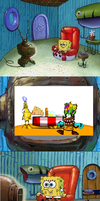 SpongeBob Watching Epic Comedy by 4br1l