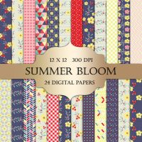 Free Floral Digital Paper Pack by ItGirlDigital by ItGirlDigital