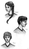 Hunger Games - Main characters by hush-angel