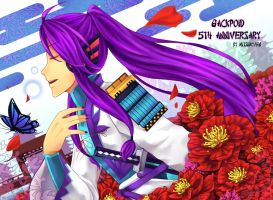 Gackpoid anniversary 2013 by Mitsukiven