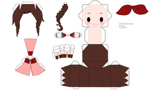 Aerith Gainsborough Papercraft by tsunyandere