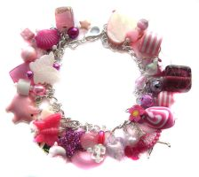 Pink charm bracelet 2 by fairy-cakes