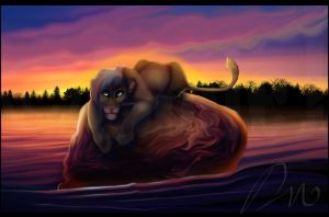 Amber and Amethyst by LanieJ