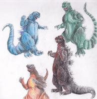 godzilla's by QueenTurchese94