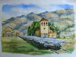 sogamoso 's  train  station by avellajorge