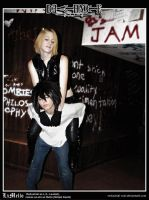 Death Note Cosplay: L and Mello: Piggyback by Redustrial-Ruin