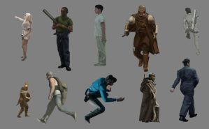 More Character Studies by SymbioticFusion